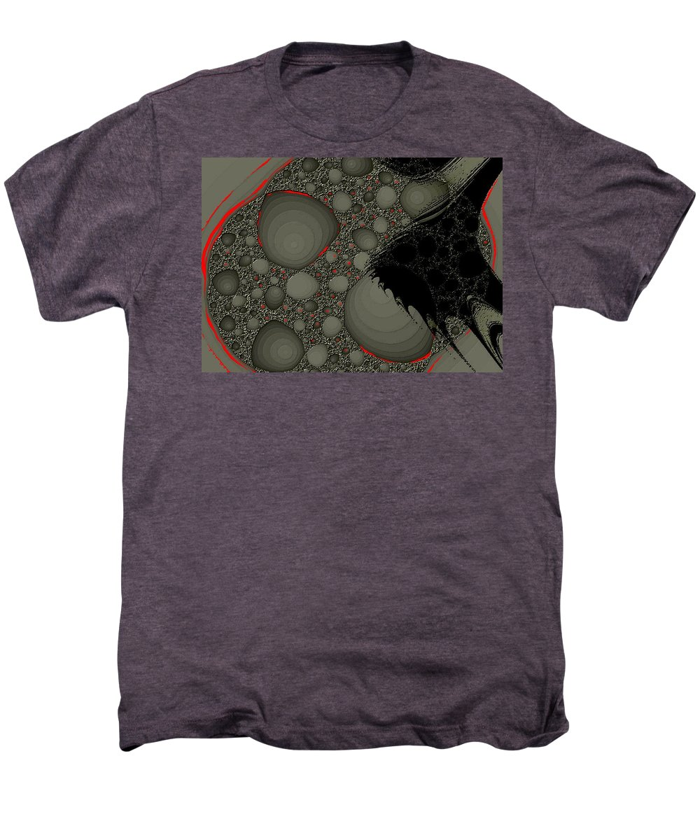 Fractals Embers Fire Cells Stones Rocks Men's Premium T-Shirt featuring the digital art Untitled by Veronica Jackson