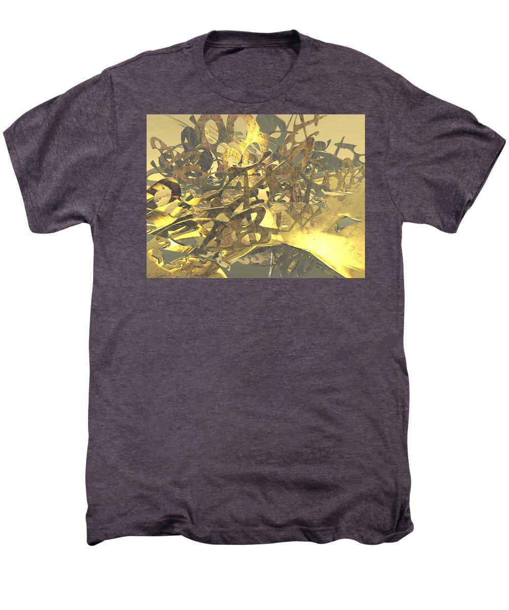 Scott Piers Men's Premium T-Shirt featuring the painting Urban Gold by Scott Piers