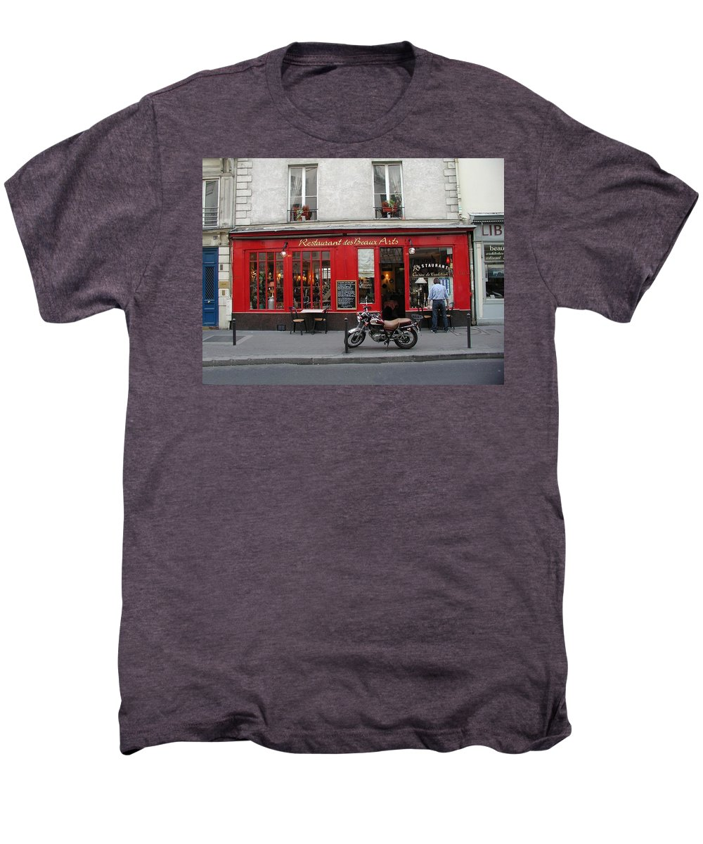 Red Men's Premium T-Shirt featuring the photograph A Stop Along The Journey by Tom Reynen