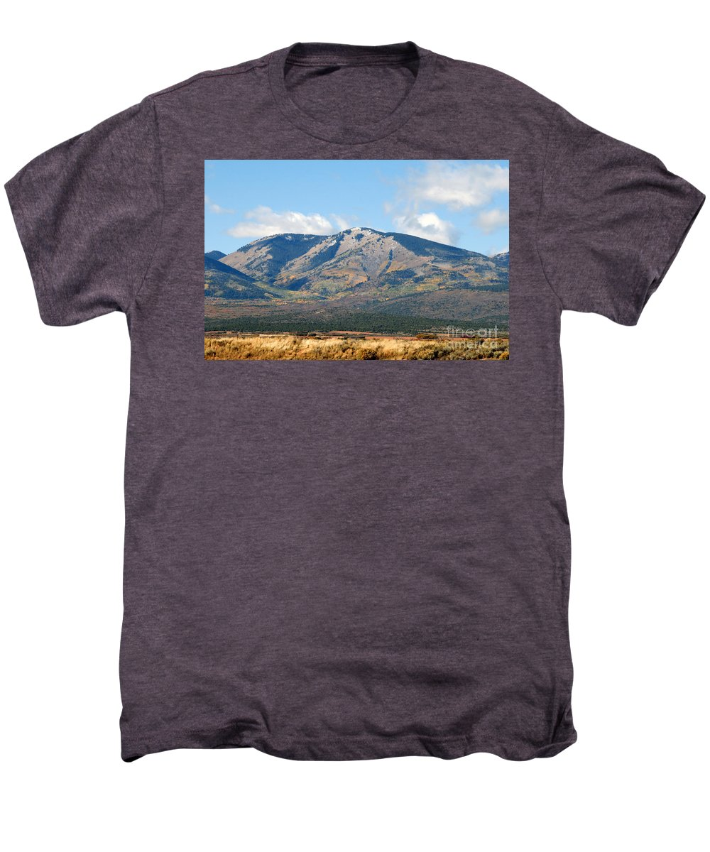 Abajo Mountains Utah Men's Premium T-Shirt featuring the photograph Abajo Mountains Utah by David Lee Thompson