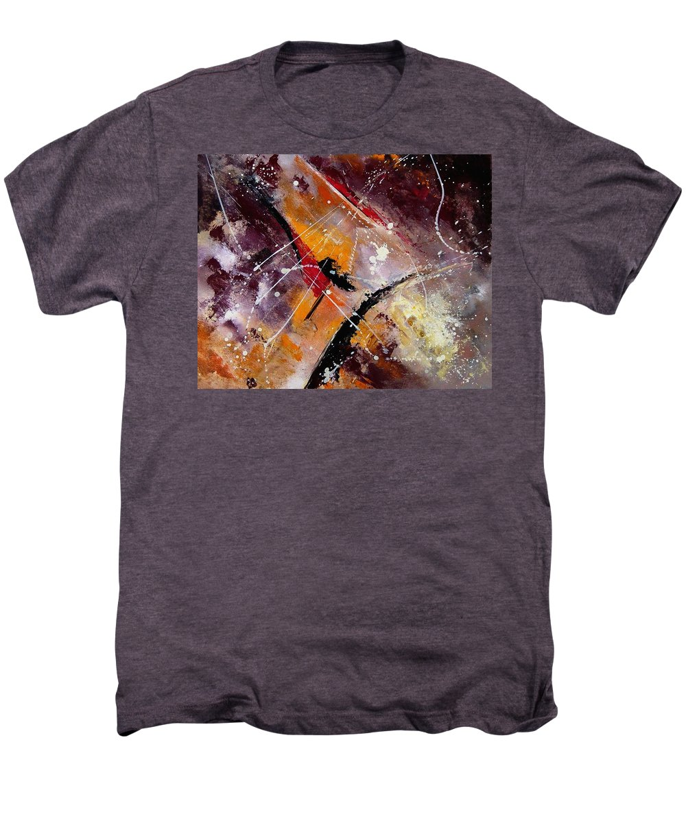 Abstract Men's Premium T-Shirt featuring the painting Abstract 45 by Pol Ledent