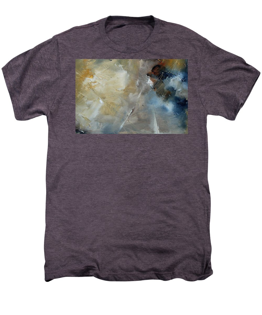 Abstract Men's Premium T-Shirt featuring the painting Abstract 904060 by Pol Ledent