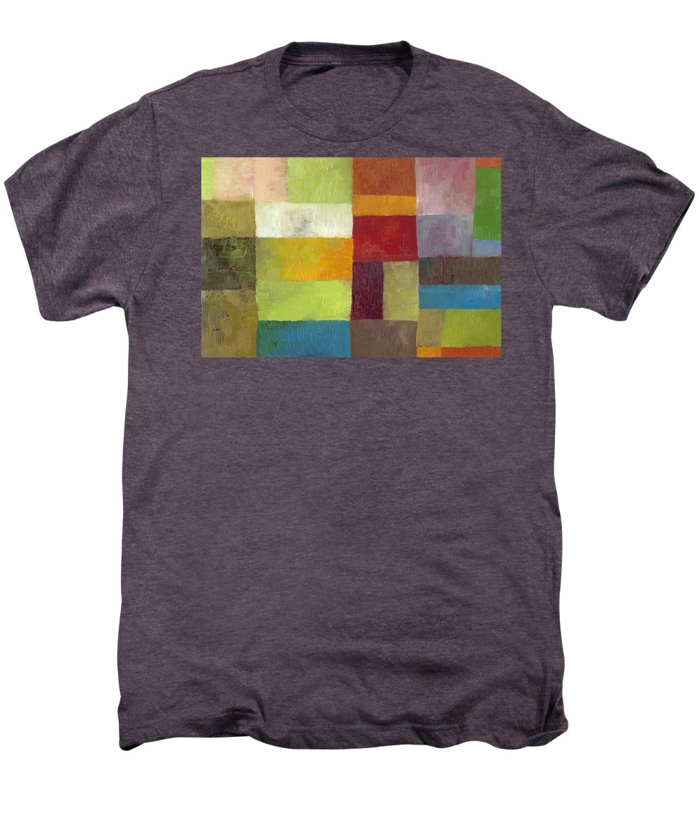Abstract Men's Premium T-Shirt featuring the painting Abstract Color Study Lv by Michelle Calkins