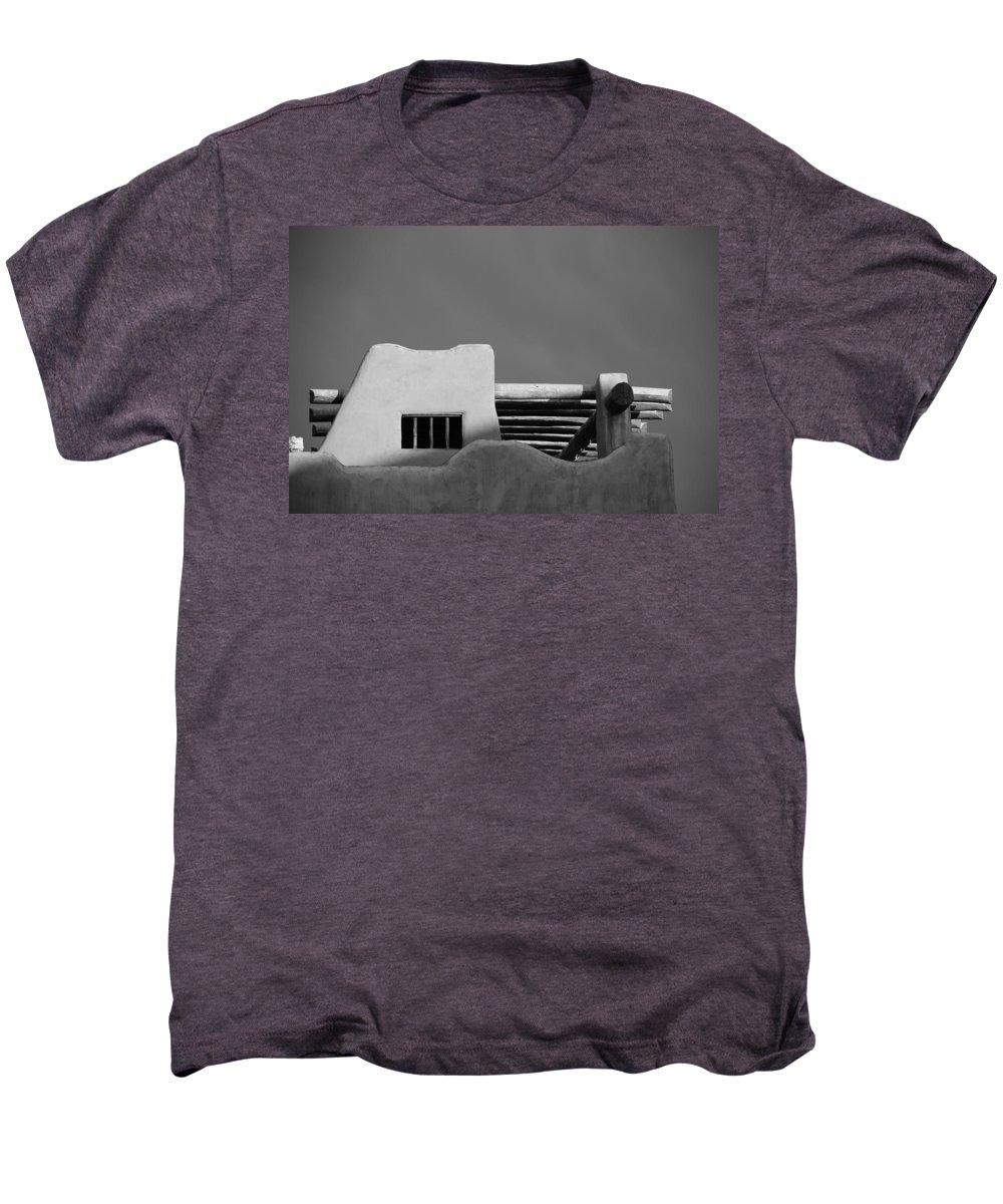 Architecture Men's Premium T-Shirt featuring the photograph Adobe Turrett by Rob Hans