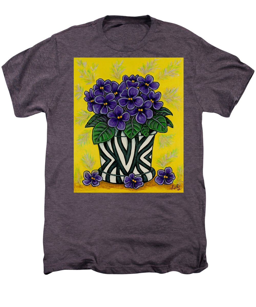 Violets Men's Premium T-Shirt featuring the painting African Queen by Lisa Lorenz