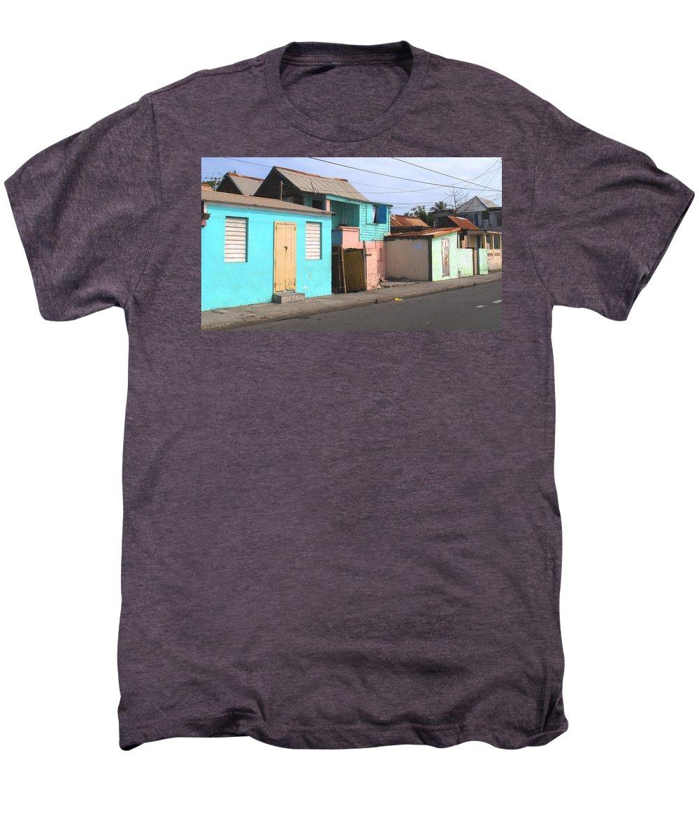 St Kitts Men's Premium T-Shirt featuring the photograph Along Bay Road by Ian MacDonald
