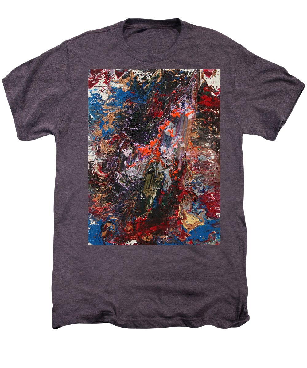 Fusionart Men's Premium T-Shirt featuring the painting Angel Rising by Ralph White