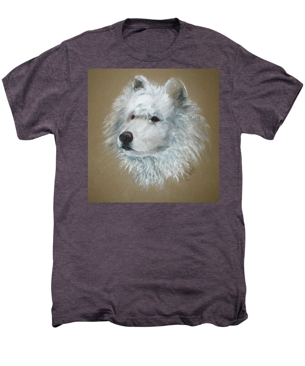 Pastel Men's Premium T-Shirt featuring the drawing Arctic Majestry by Cori Solomon