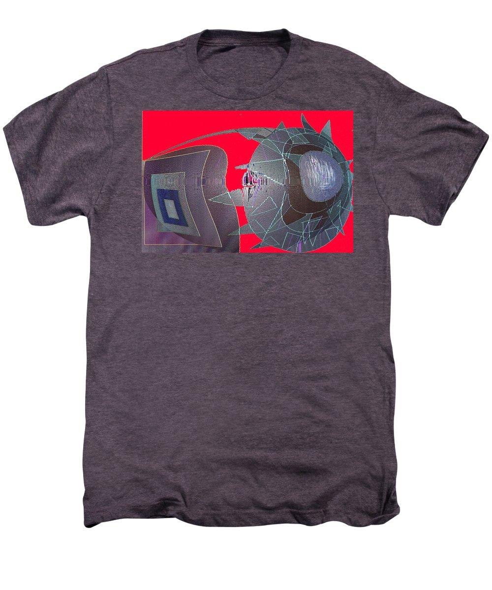 Digital Men's Premium T-Shirt featuring the digital art Attack by Ian MacDonald