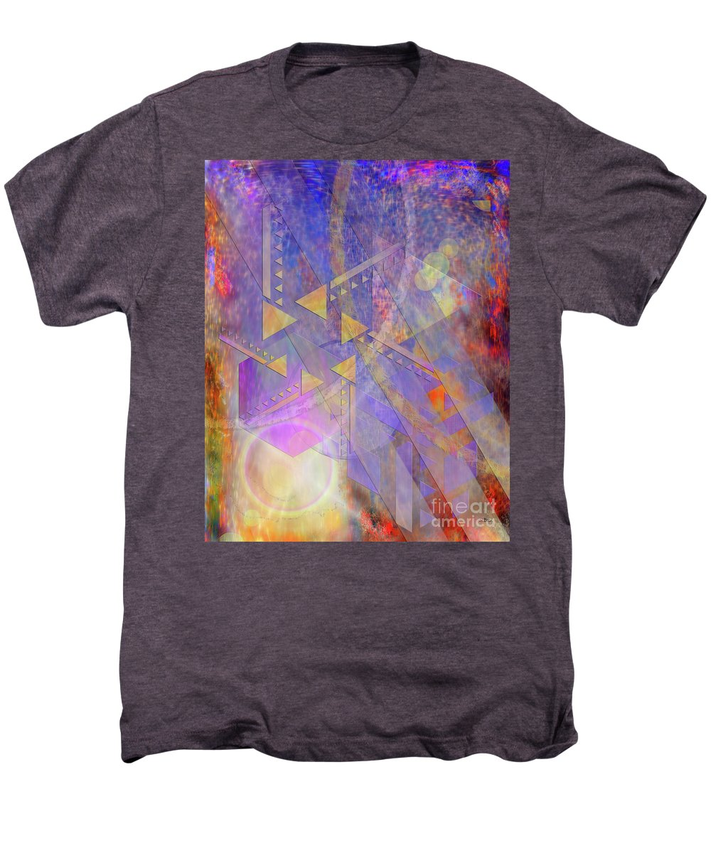Aurora Aperture Men's Premium T-Shirt featuring the digital art Aurora Aperture by John Beck