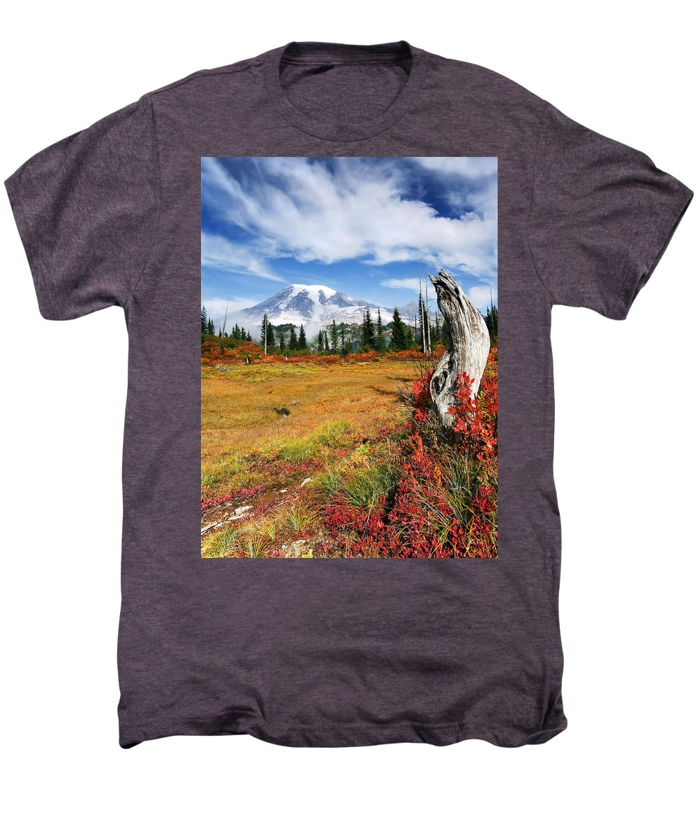 Rainier Men's Premium T-Shirt featuring the photograph Autumn Majesty by Mike Dawson