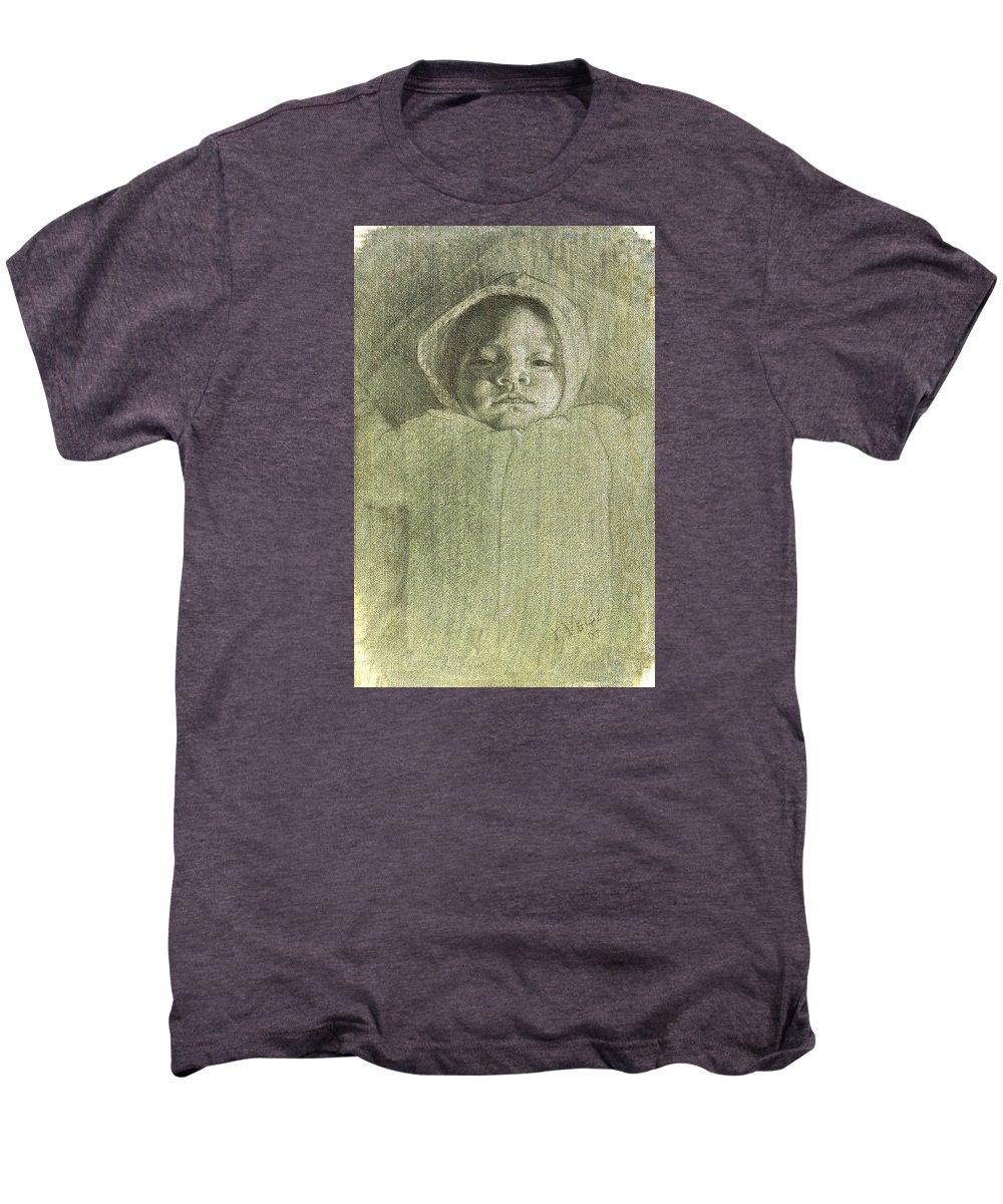 Men's Premium T-Shirt featuring the painting Baby Self Portrait by Joe Velez