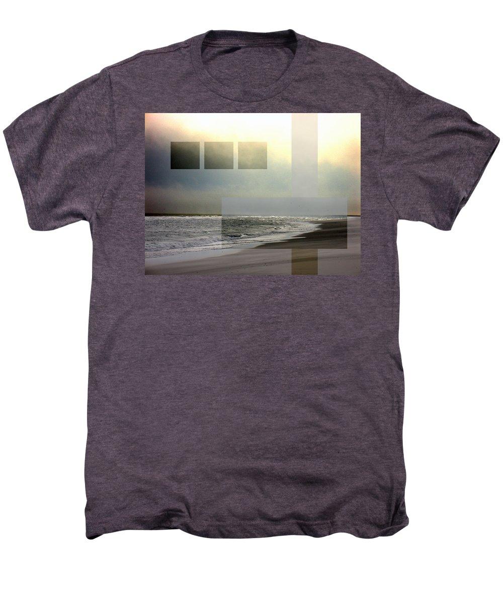 Beach Men's Premium T-Shirt featuring the photograph Beach Collage 2 by Steve Karol