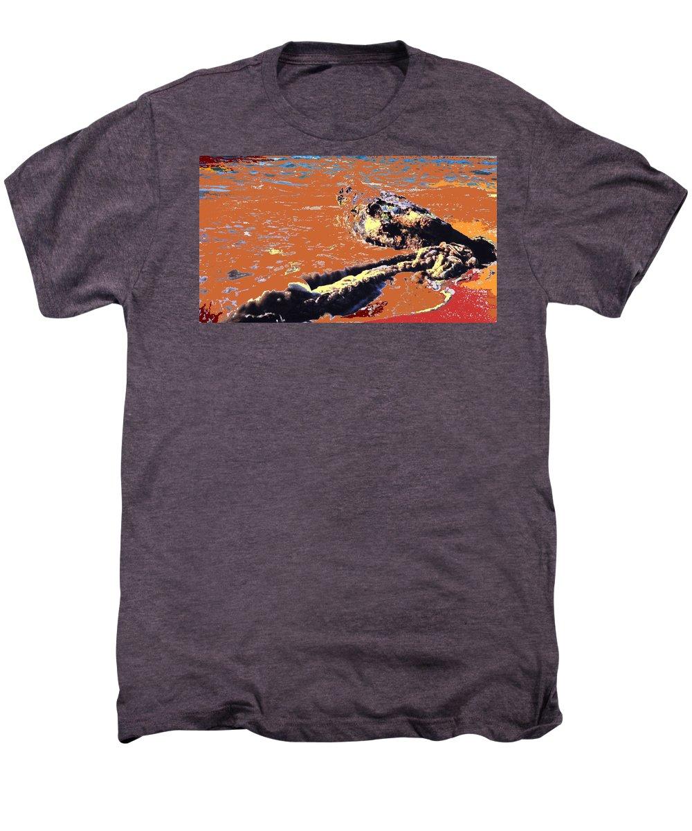 Rope Men's Premium T-Shirt featuring the photograph Beach Rope by Ian MacDonald