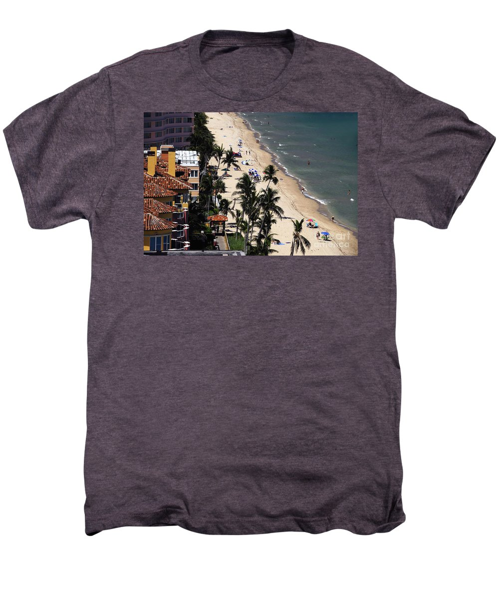 Beach Men's Premium T-Shirt featuring the photograph Beach Scene by David Lee Thompson