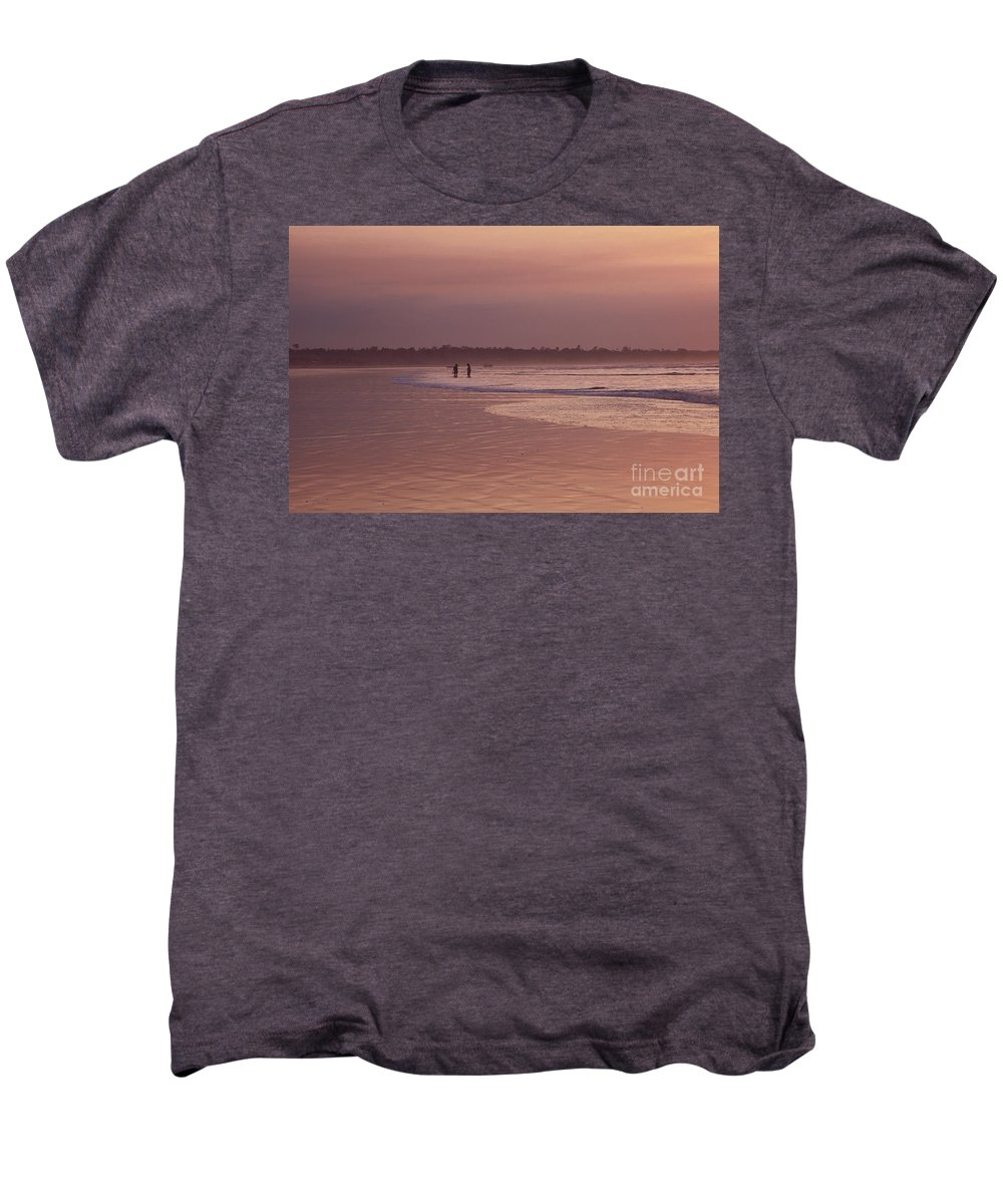 Ecuador Men's Premium T-Shirt featuring the photograph Beachcombers by Kathy McClure