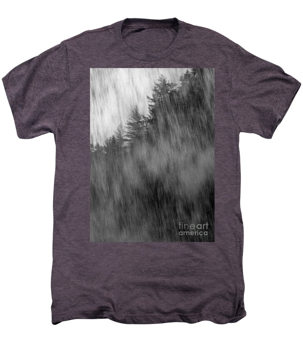 Waterfalls Men's Premium T-Shirt featuring the photograph Behind The Falls by Richard Rizzo