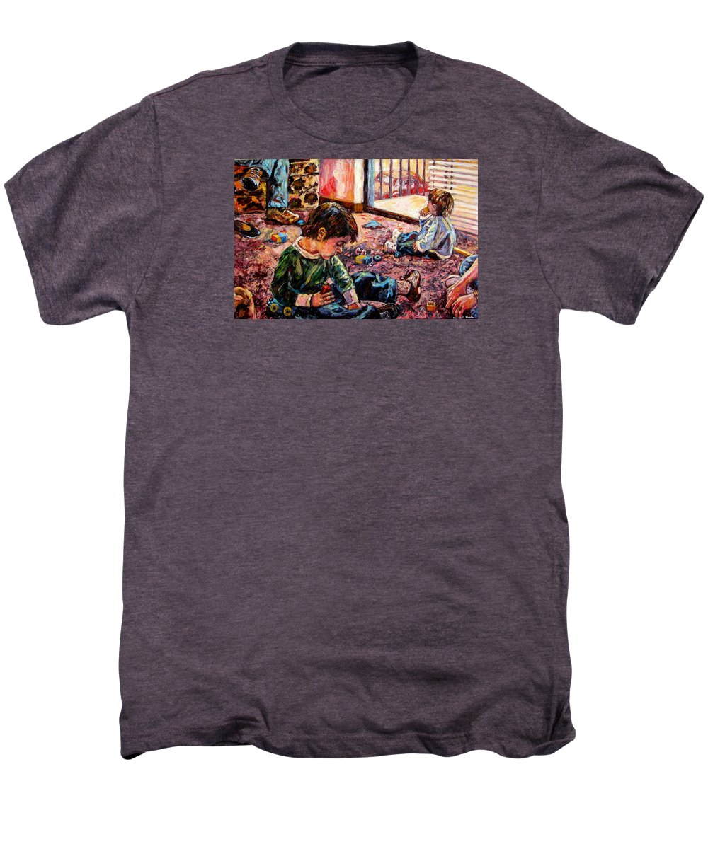 Figure Men's Premium T-Shirt featuring the painting Birthday Party Or A Childs View by Kendall Kessler