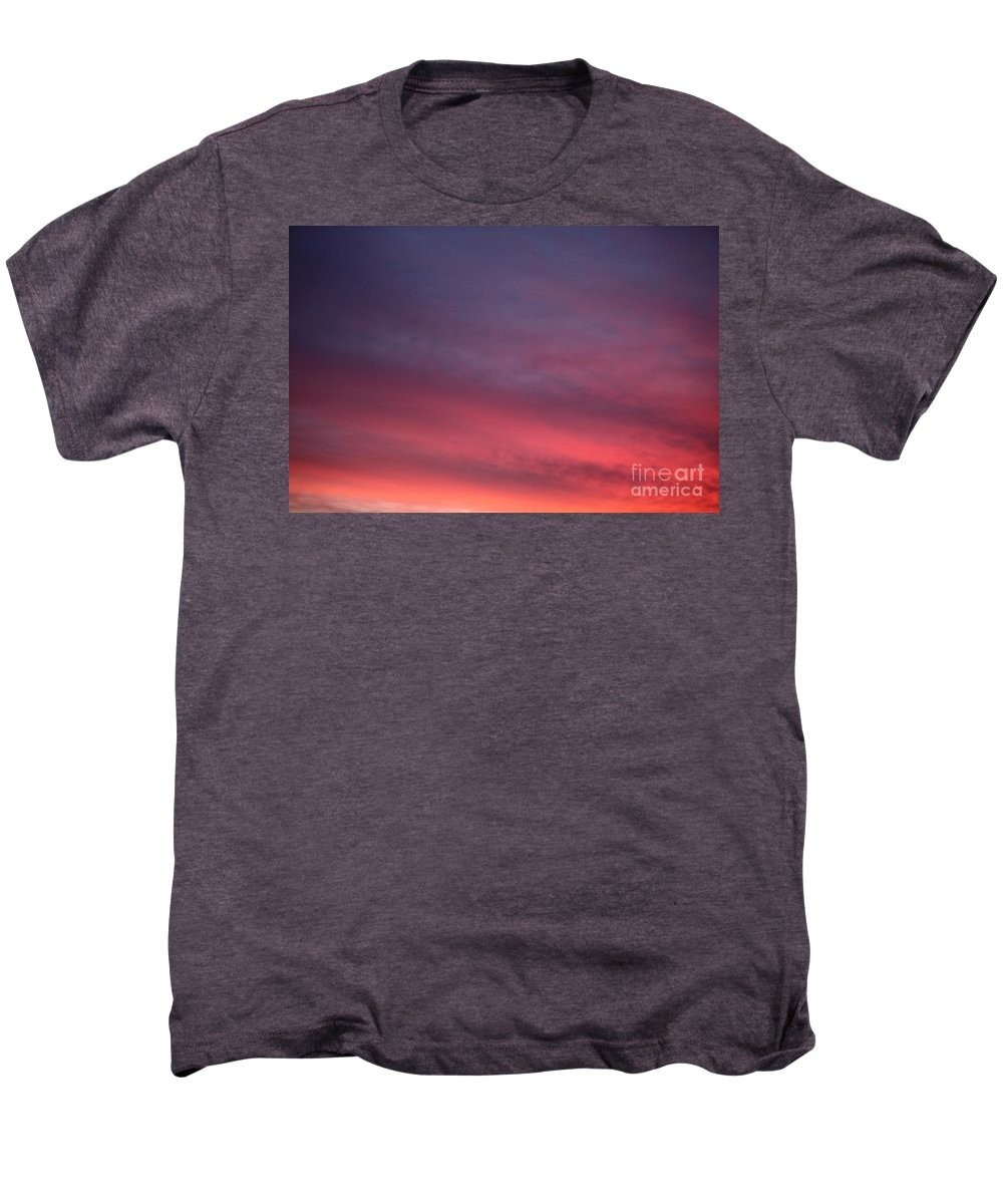 Sunset Men's Premium T-Shirt featuring the photograph Blue And Orange Sunset by Nadine Rippelmeyer