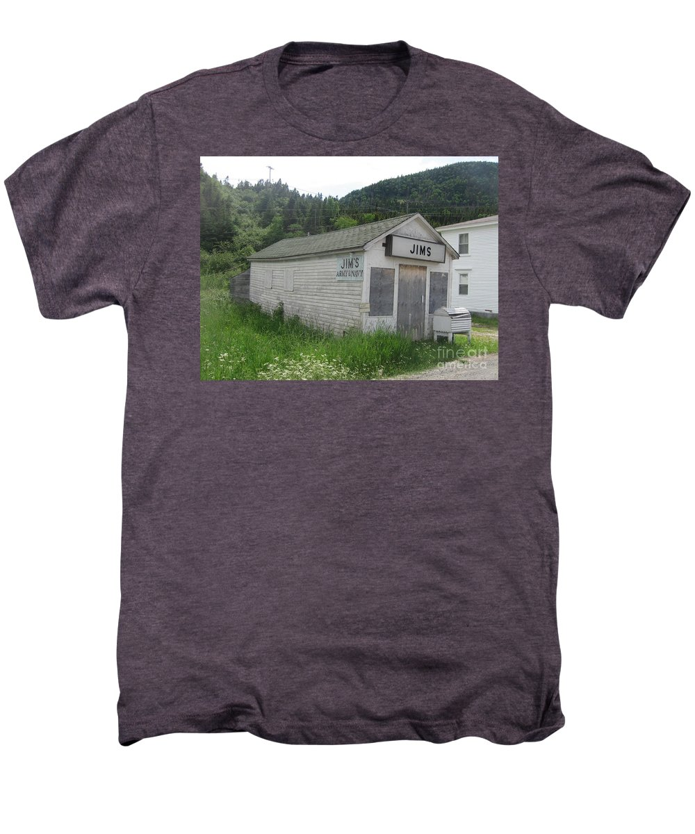 Photograph Bonne Bay Newfoundland Army Navy Store Men's Premium T-Shirt featuring the photograph Bonne Bay2 by Seon-Jeong Kim