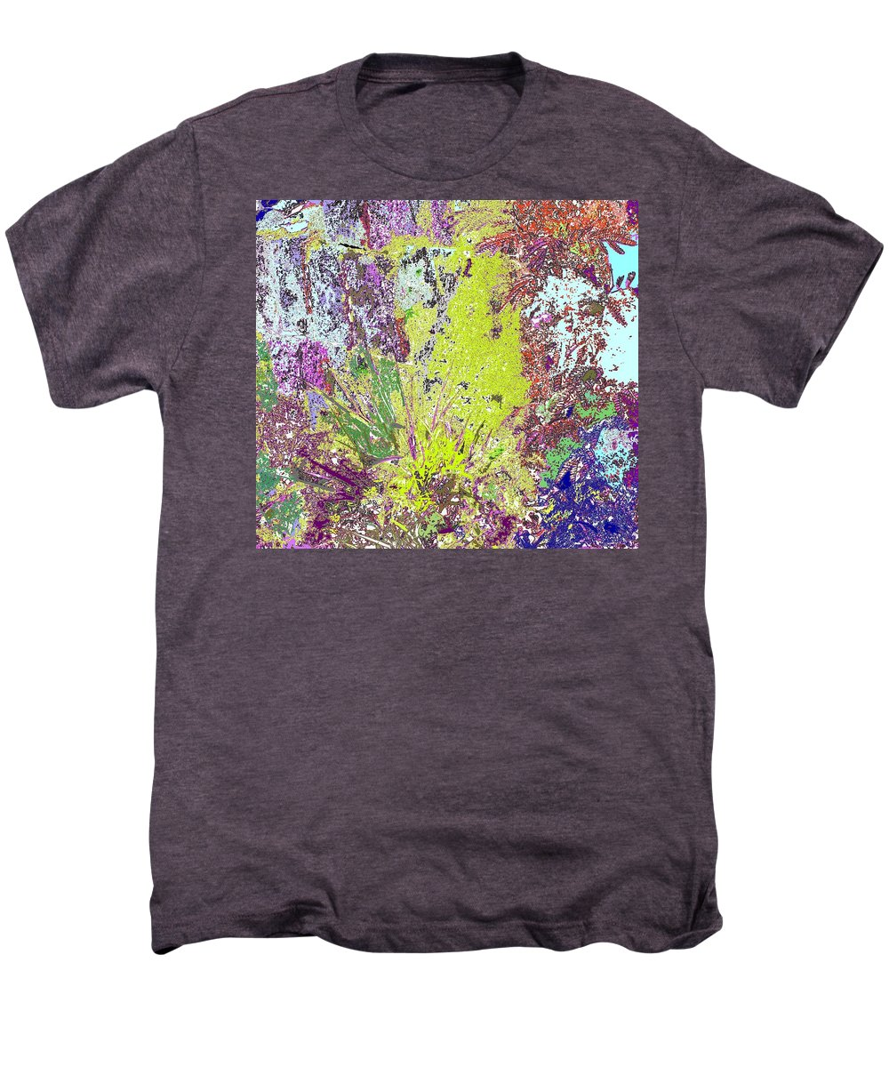 Abstract Men's Premium T-Shirt featuring the photograph Brimstone Fantasy by Ian MacDonald
