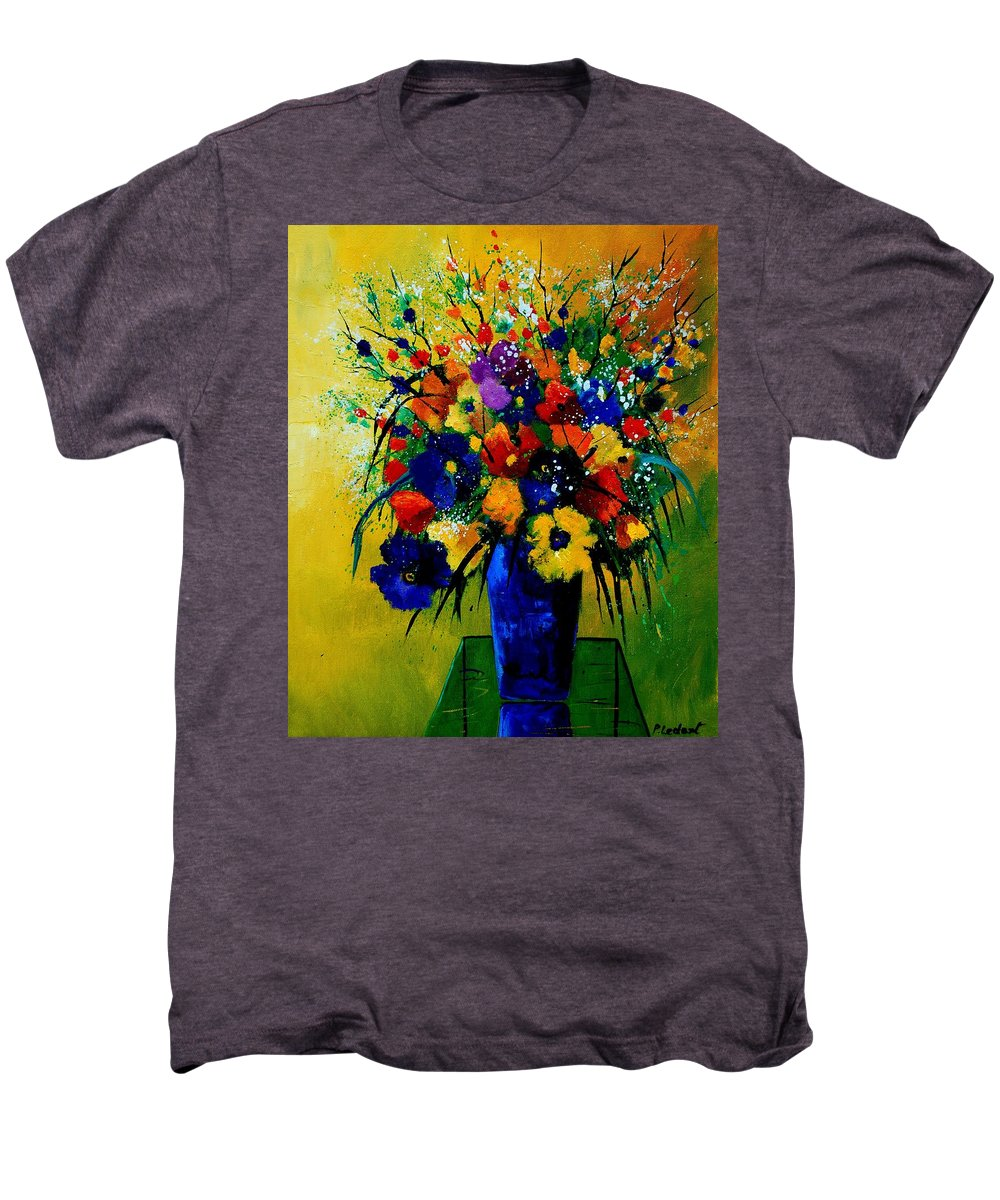 Poppies Men's Premium T-Shirt featuring the painting Bunch 0508 by Pol Ledent