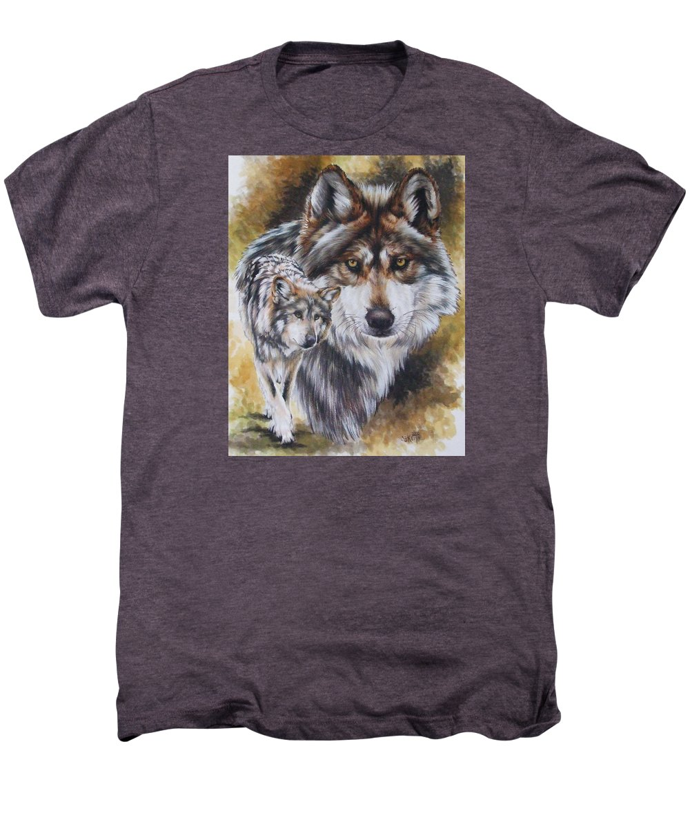 Wildlife Men's Premium T-Shirt featuring the mixed media Callidity by Barbara Keith
