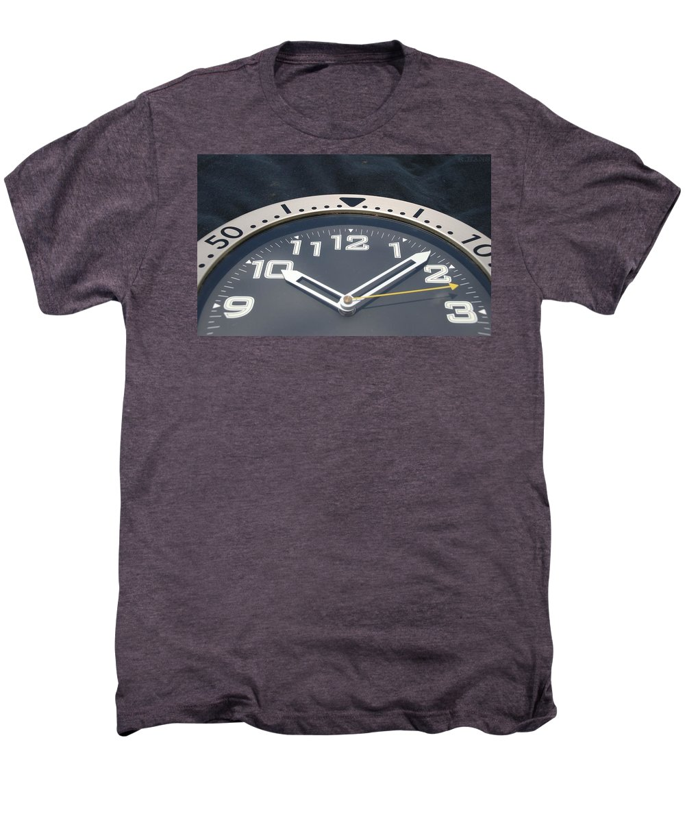 Clock Men's Premium T-Shirt featuring the photograph Clock Face by Rob Hans