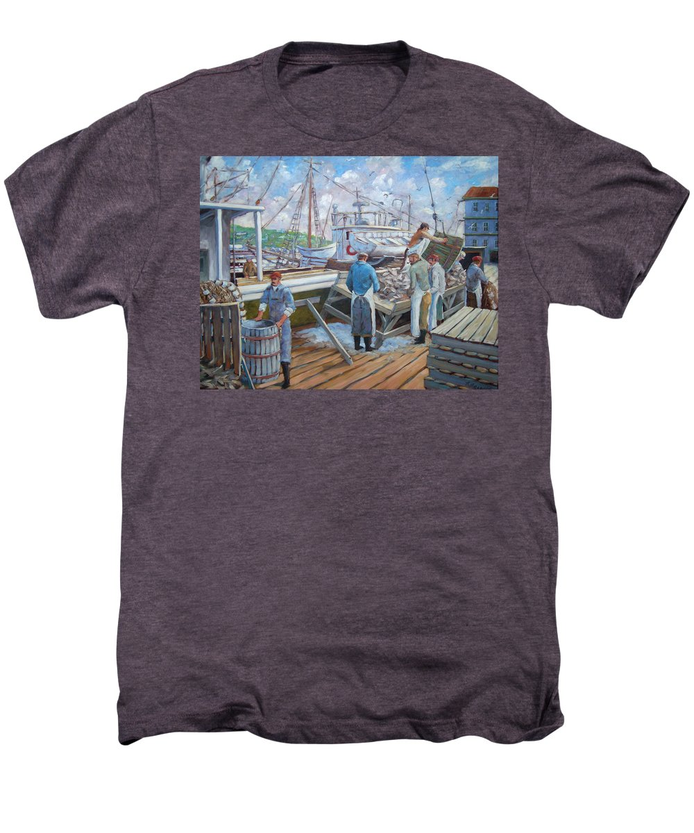 Cod Men's Premium T-Shirt featuring the painting Cod Memories by Richard T Pranke