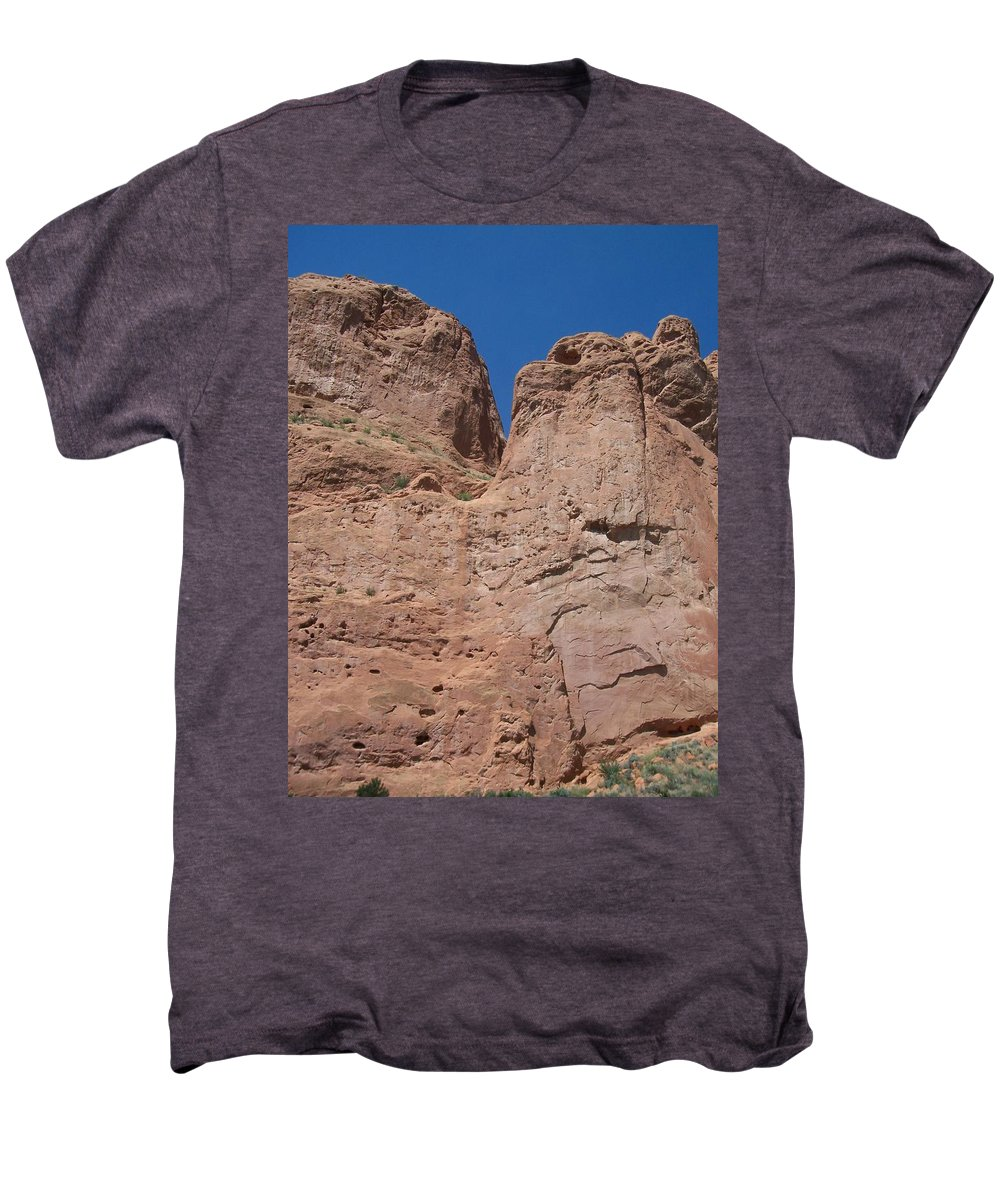Colorado Men's Premium T-Shirt featuring the photograph Colorado Redrock by Anita Burgermeister