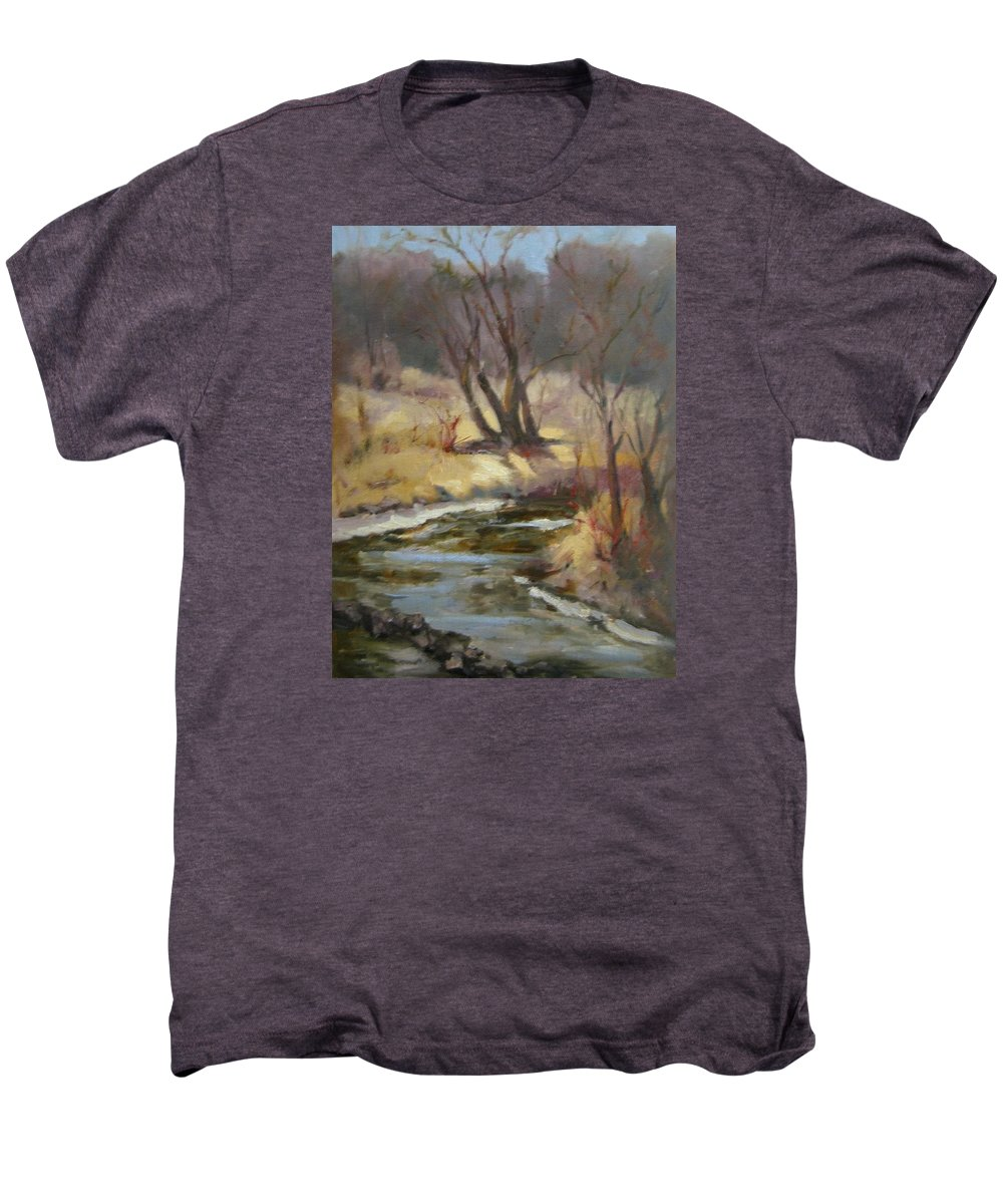 Plein Air Landscape Men's Premium T-Shirt featuring the painting Credit River by Patricia Kness