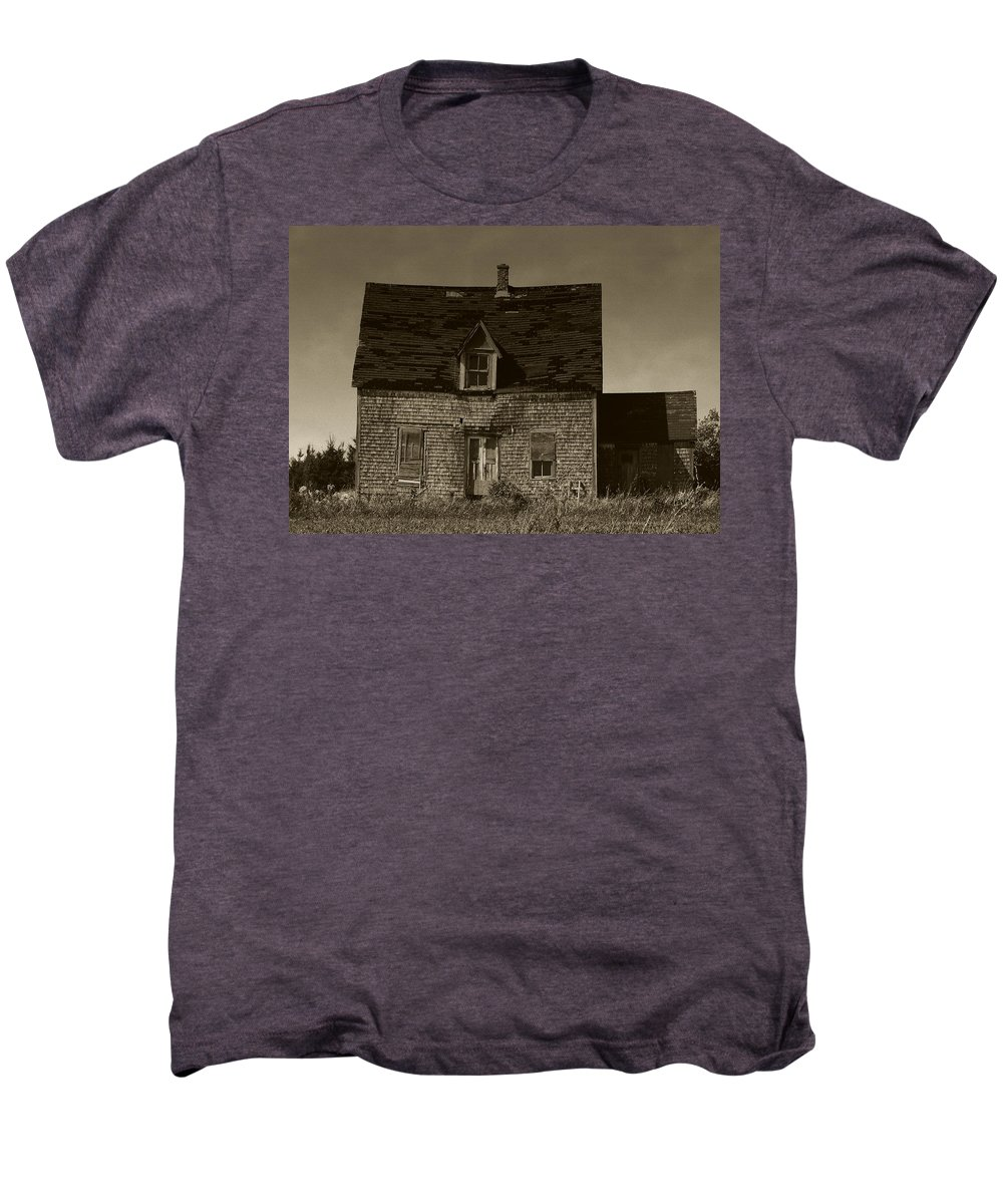 Old House Men's Premium T-Shirt featuring the photograph Dark Day On Lonely Street by RC DeWinter