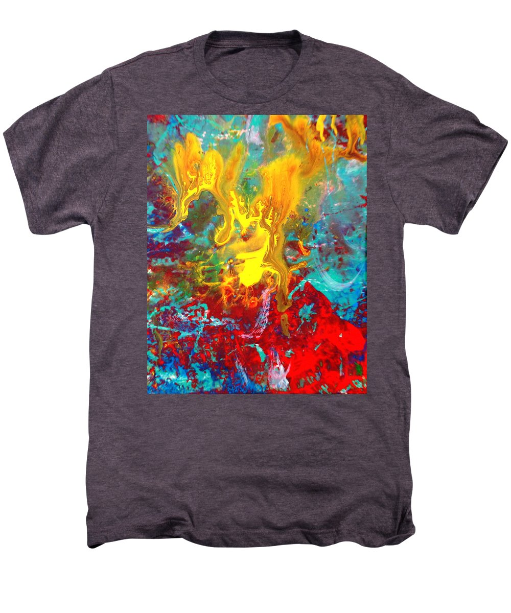Abstract Men's Premium T-Shirt featuring the painting Dawn Of The Universe by Natalie Holland