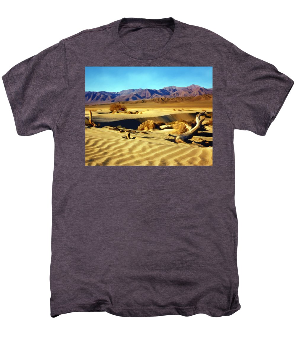 Death Valley Men's Premium T-Shirt featuring the photograph Death Valley by Kurt Van Wagner