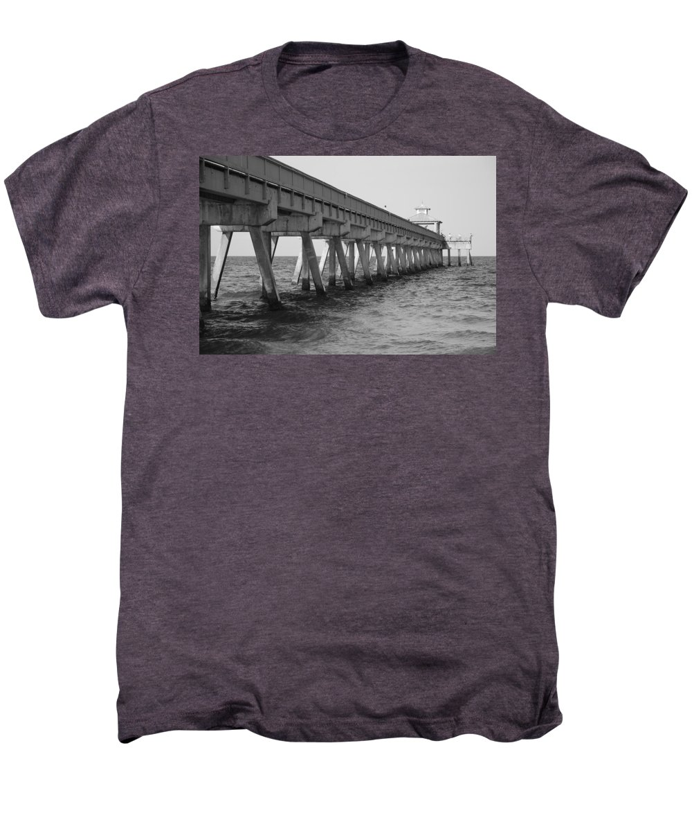 Architecture Men's Premium T-Shirt featuring the photograph Deerfield Beach Pier by Rob Hans