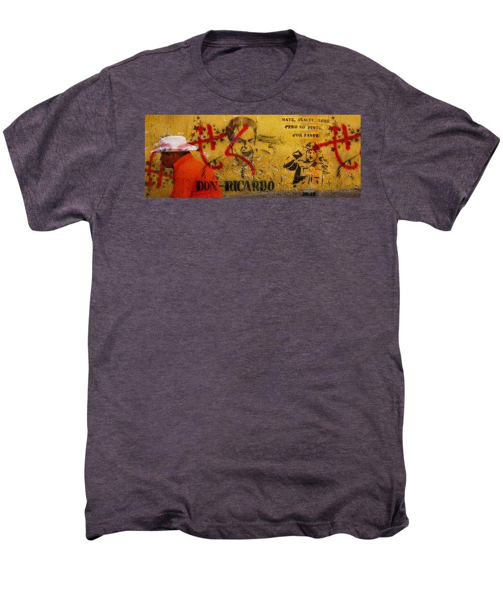 Grafitti Men's Premium T-Shirt featuring the photograph Don-ricardo by Skip Hunt