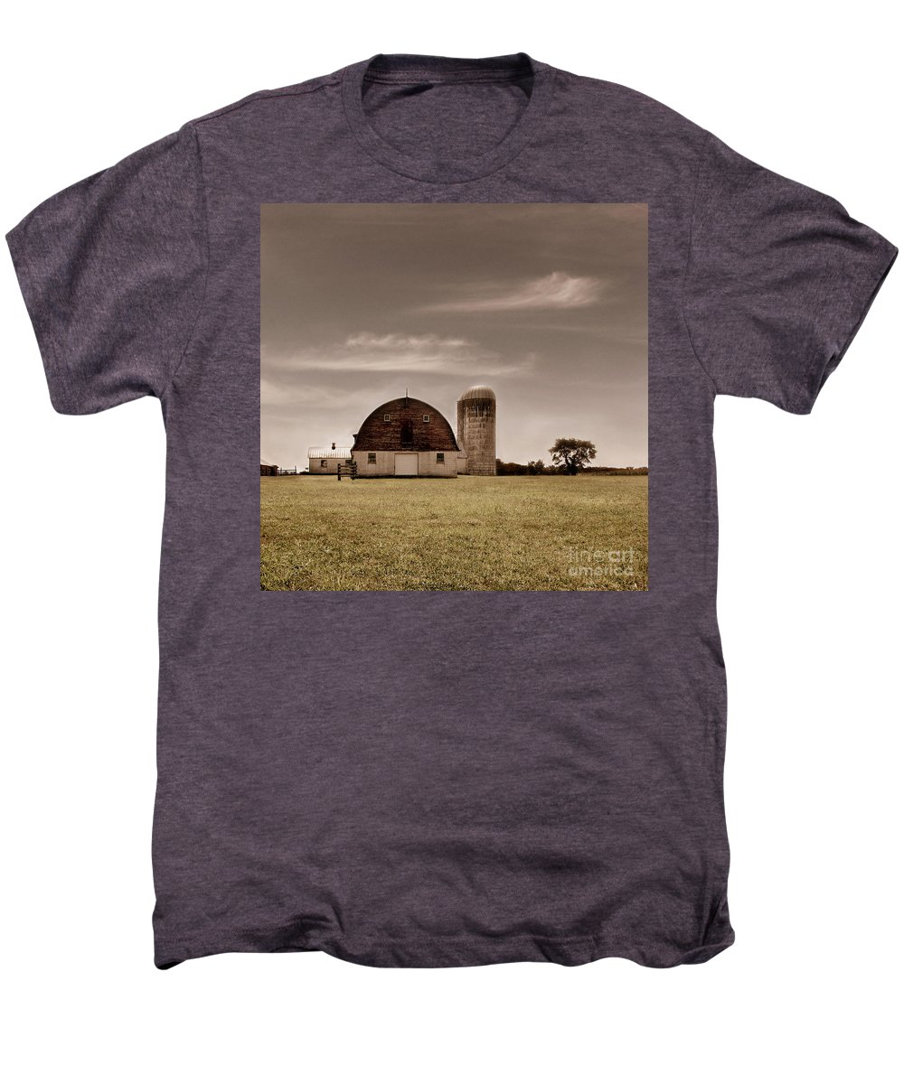 Farm Men's Premium T-Shirt featuring the photograph Dry Earth Crumbles Between My Fingers And I Look To The Sky For Rain by Dana DiPasquale
