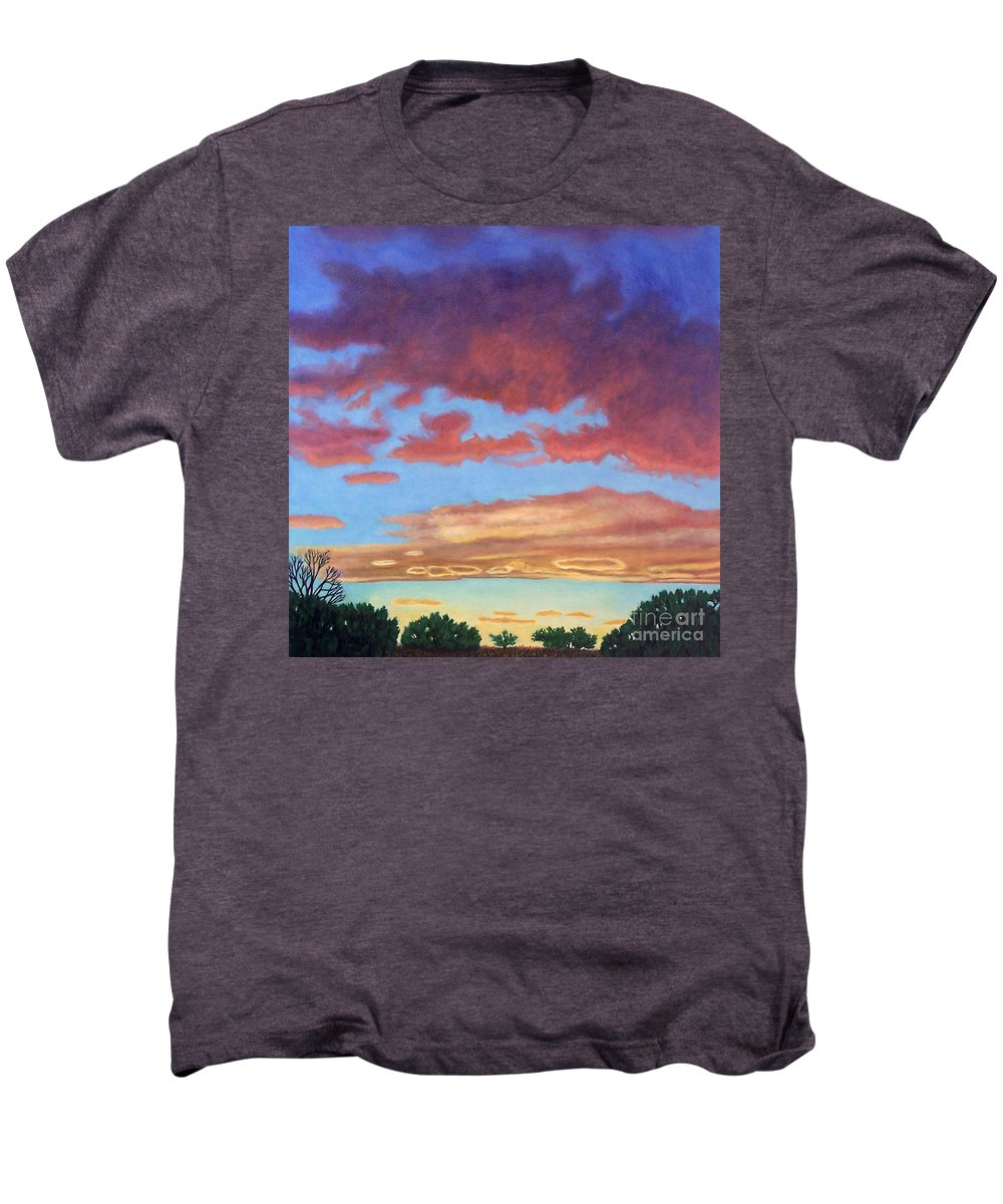 Sunset Men's Premium T-Shirt featuring the painting El Dorado Sunset by Brian Commerford