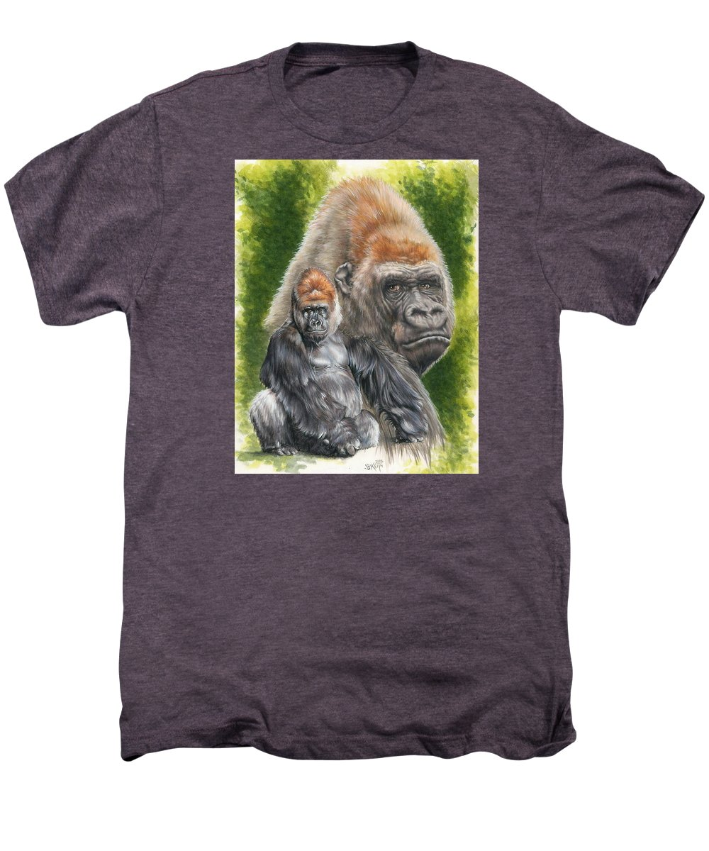 Gorilla Men's Premium T-Shirt featuring the mixed media Eloquent by Barbara Keith