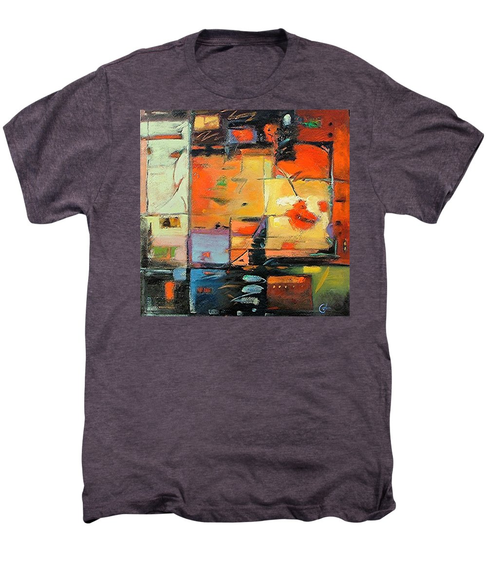 Abstract Painting Men's Premium T-Shirt featuring the painting Evening Light by Gary Coleman