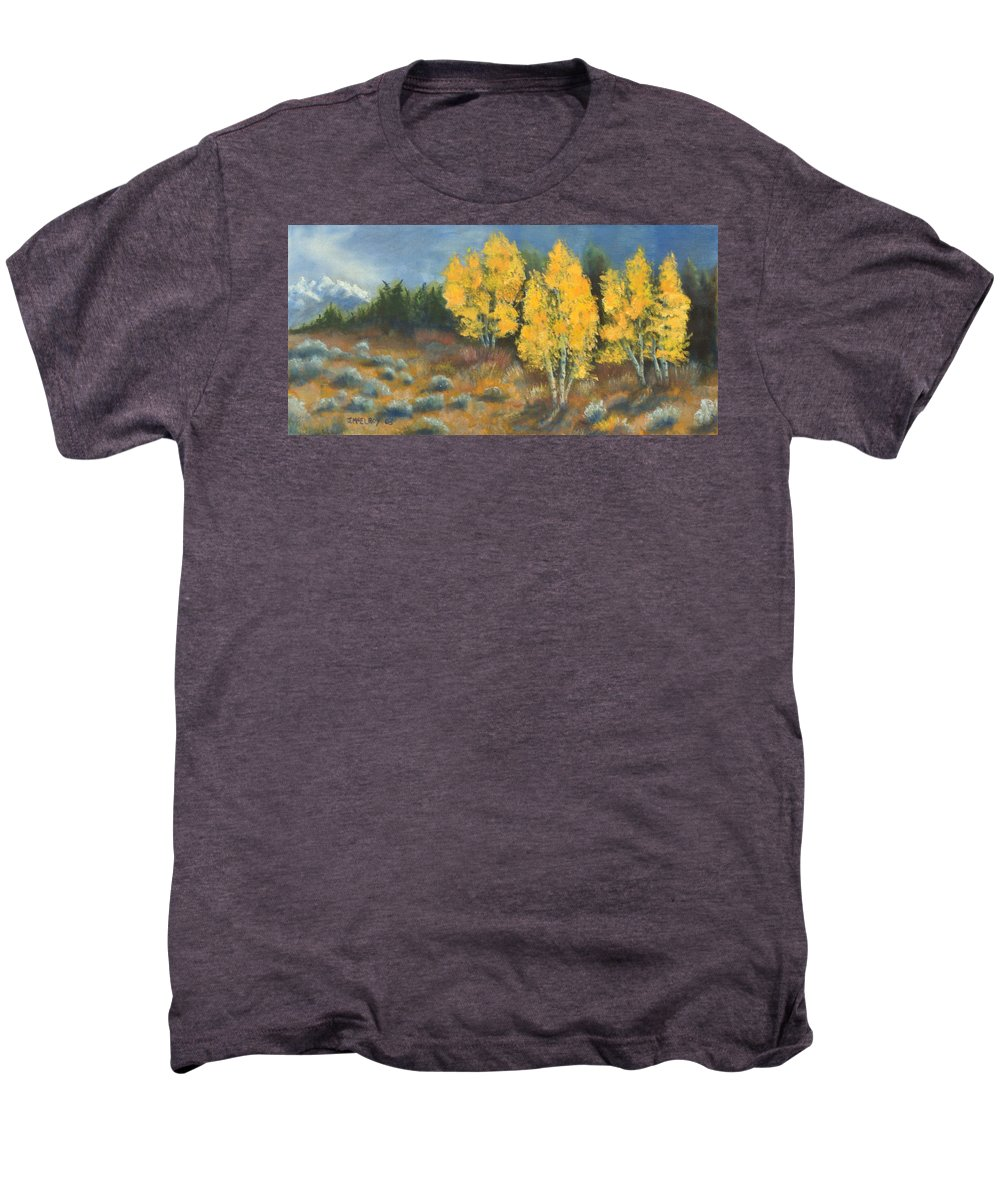 Landscape Men's Premium T-Shirt featuring the painting Fall Delight by Jerry McElroy