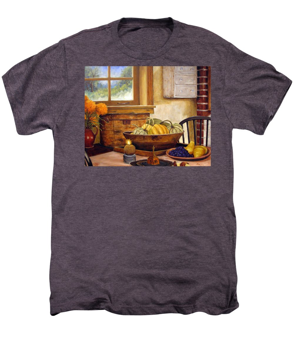 Fall Men's Premium T-Shirt featuring the painting Fall Harvest by Richard T Pranke