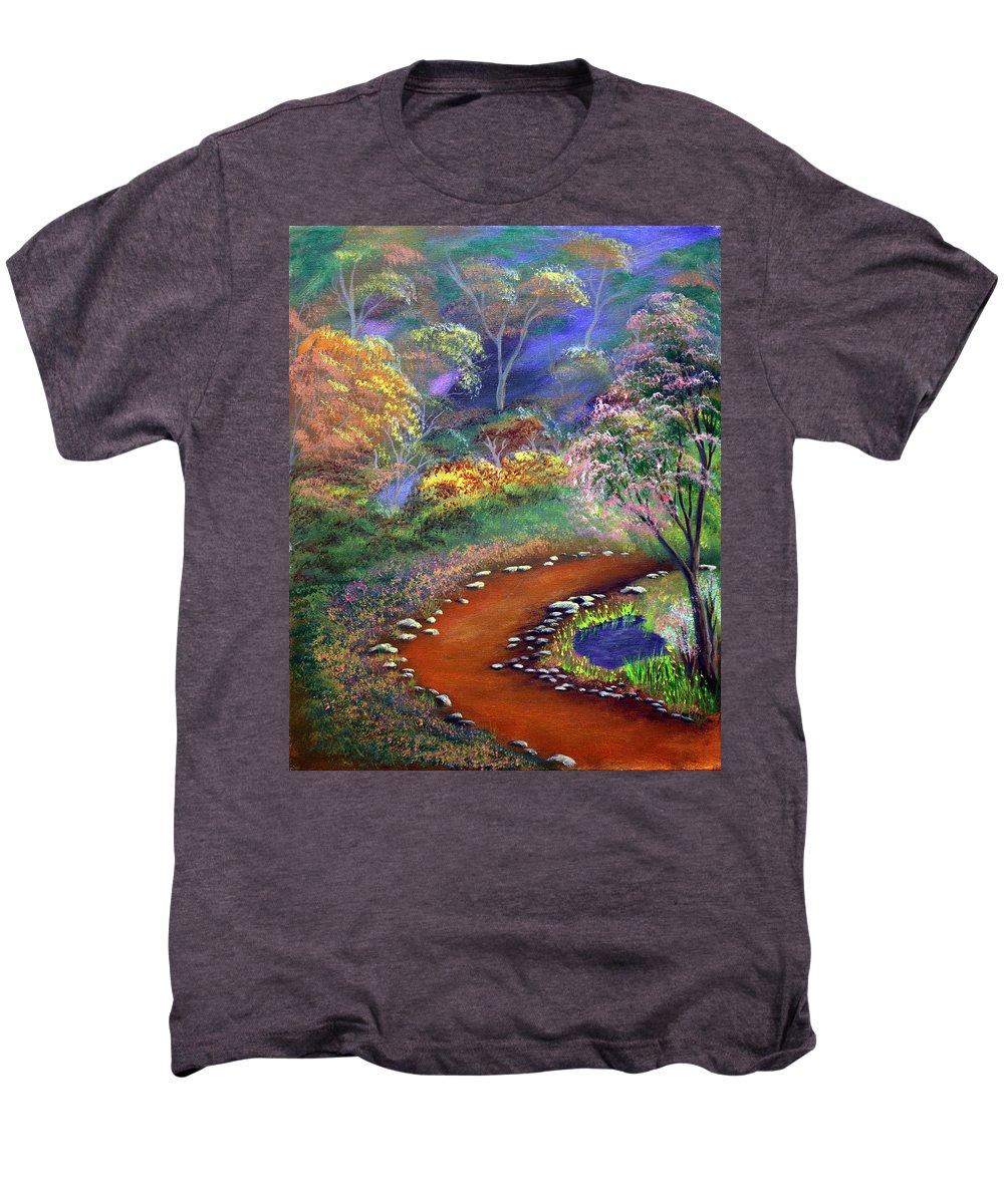 Dawn Blair Men's Premium T-Shirt featuring the painting Fantasy Path by Dawn Blair