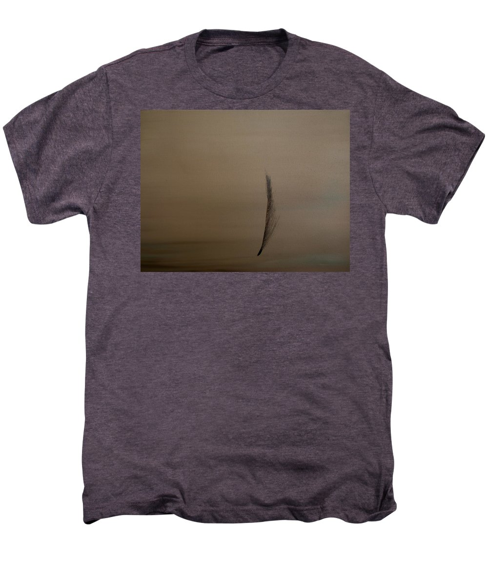 Feather Men's Premium T-Shirt featuring the painting Feather by Jack Diamond