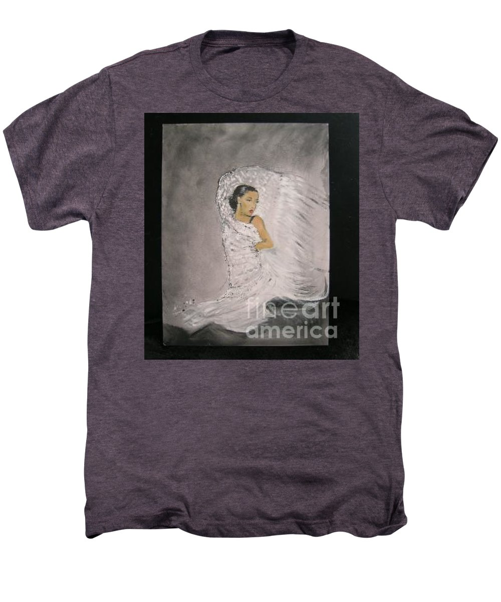 Spain Men's Premium T-Shirt featuring the painting Flamenco by Lizzy Forrester