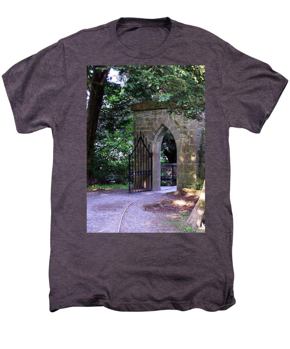 Irish Men's Premium T-Shirt featuring the photograph Gate At Cong Abbey Cong Ireland by Teresa Mucha