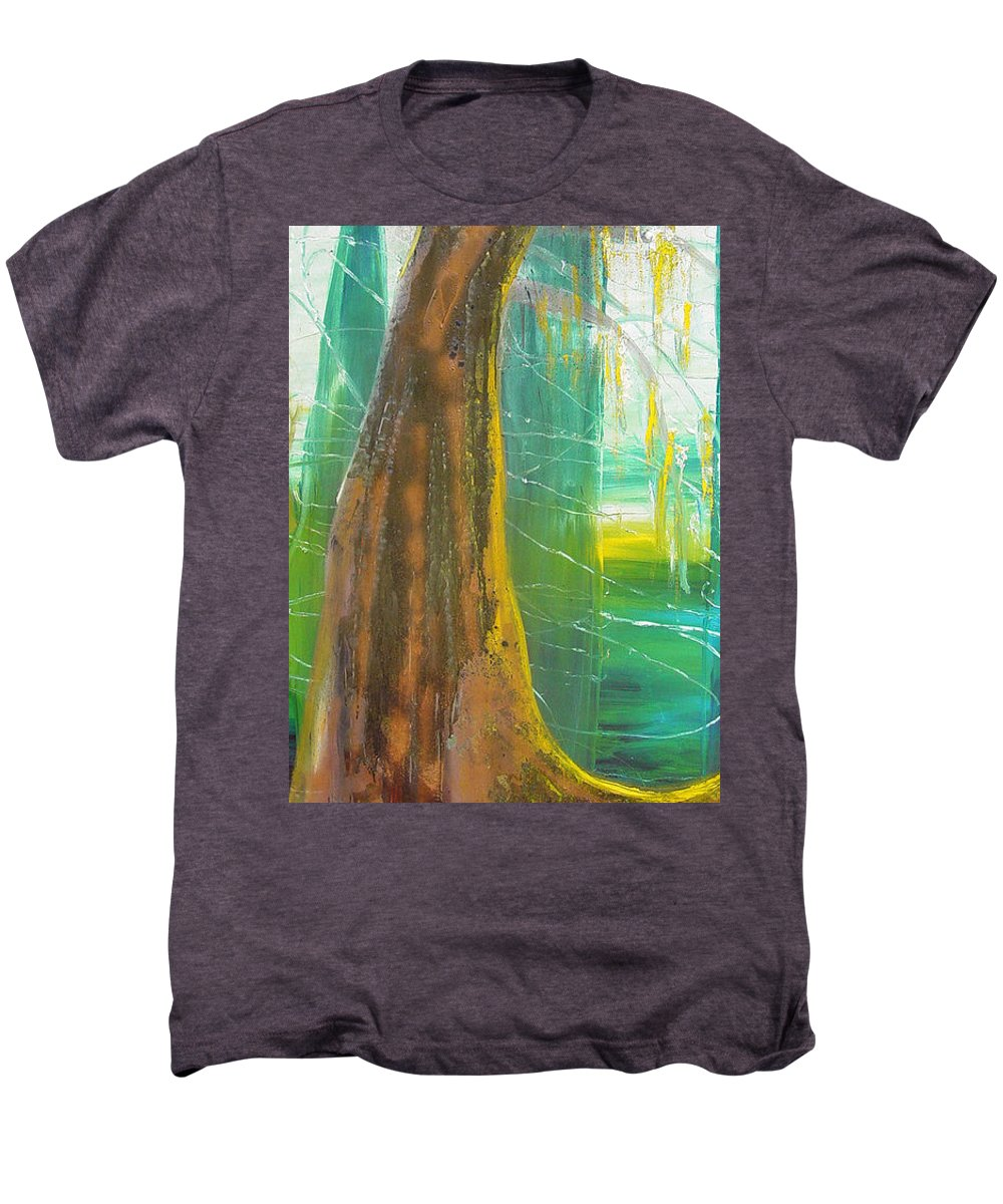 Landscape Men's Premium T-Shirt featuring the painting Georgia Morning by Peggy Blood
