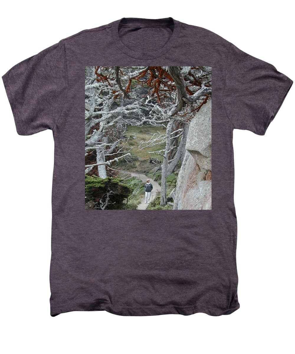 Lichens Men's Premium T-Shirt featuring the photograph Ghost Trees by Douglas Barnett