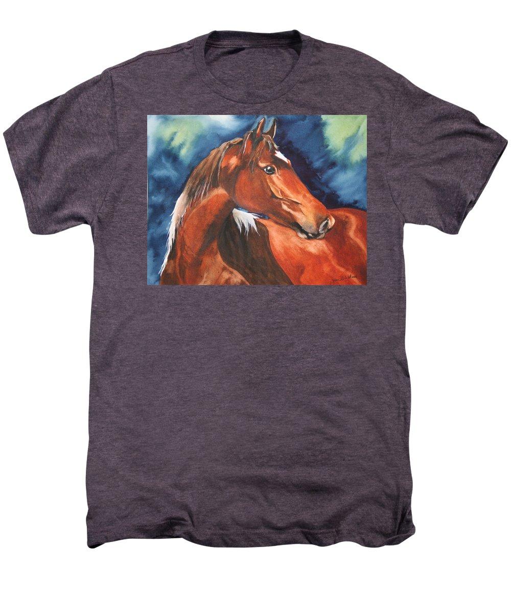 Horse Men's Premium T-Shirt featuring the painting Golden Boy by Jean Blackmer