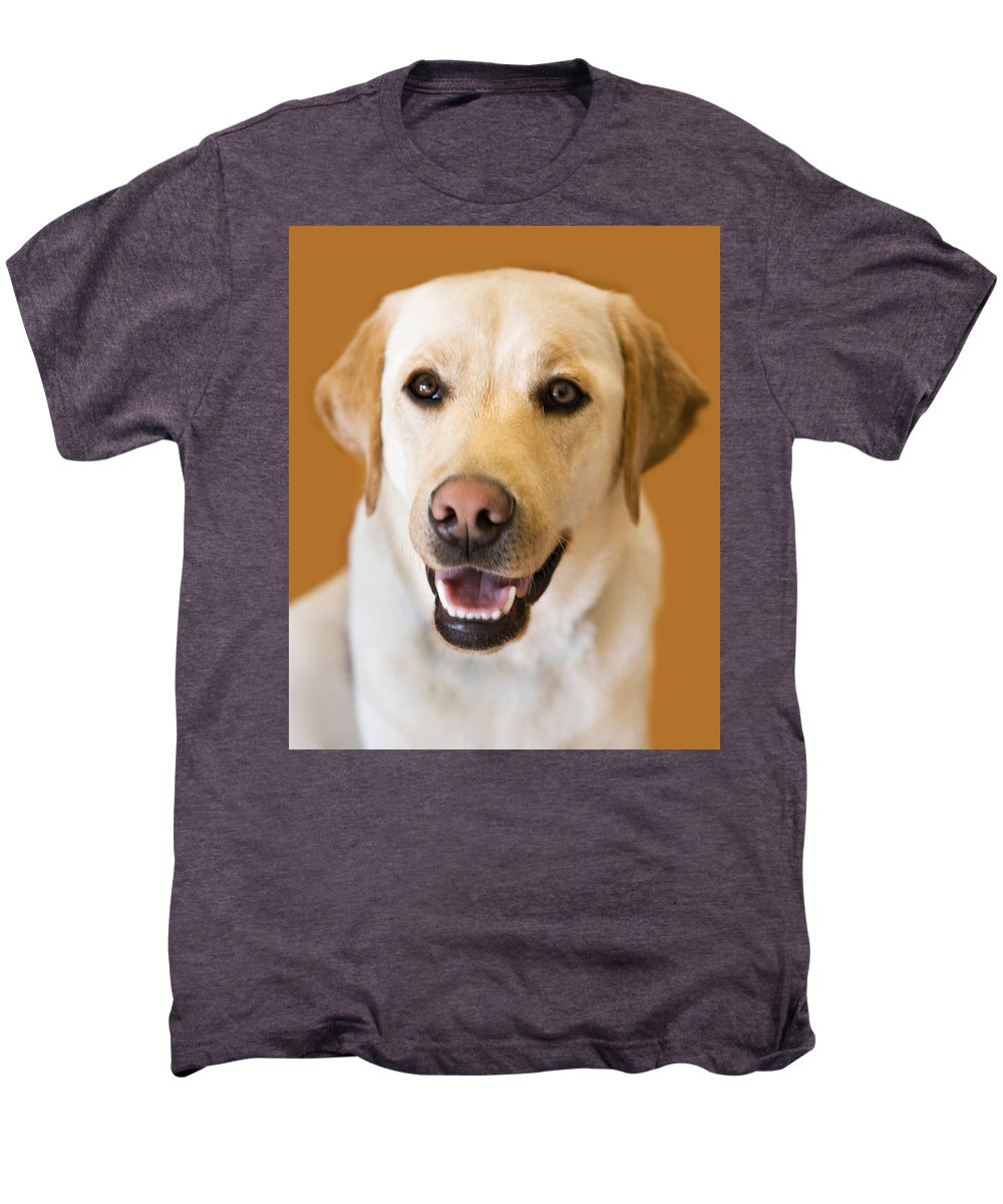 Lab Men's Premium T-Shirt featuring the photograph Golden Lab by Marilyn Hunt